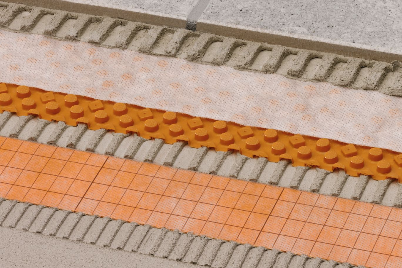 Drainage Membrane Designed For Tiles Coverings