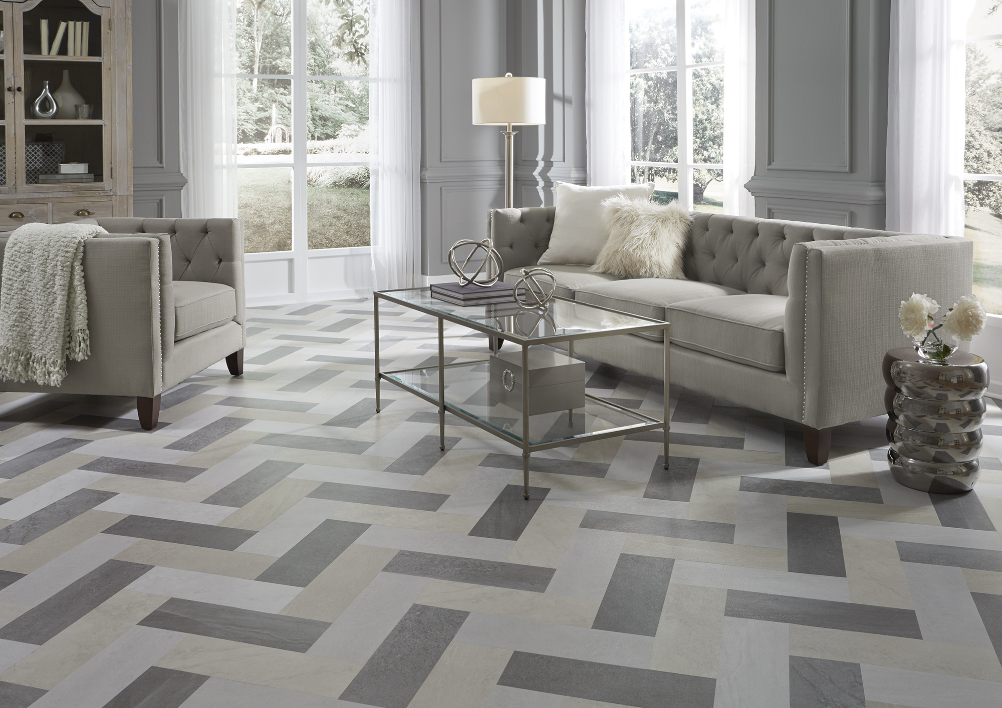 Eight new luxury vinyl flooring looks coverings for Luxury floor