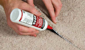 Sealing carpet seams